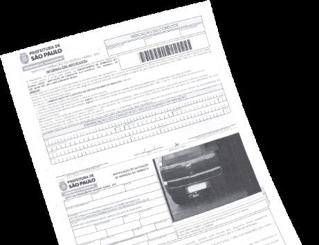 Consulta multas, imagem ilustrando uma lista contendo formalários relacionados a multa de transito