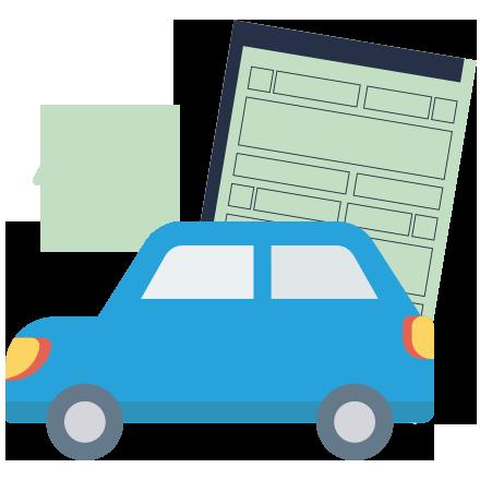atpv-e DOK Despachante, illustração carro com um documento