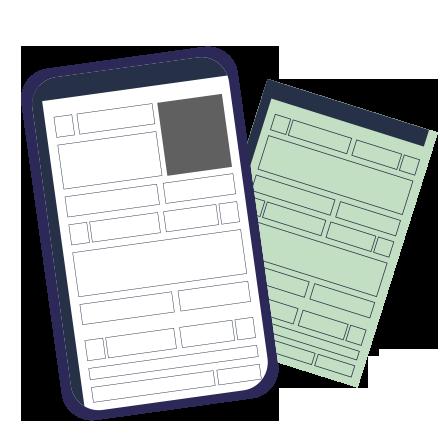 atpv-e DOK Despachante, illustração de um documento e um renavam