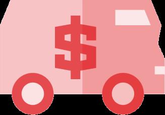 Transferência de veículo DOK Despachante, ilustração de um carro forte