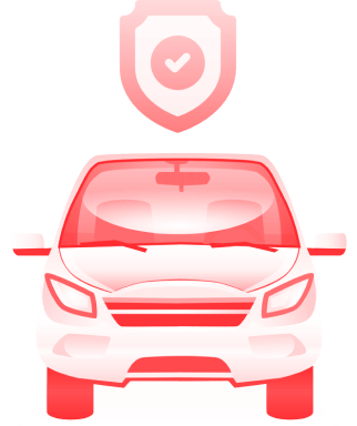 placa dok despachante, illustração carro com escudo em cima