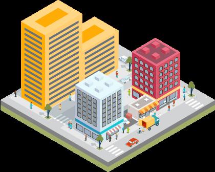 código de trânsito brasileiro dok despachante, ilustração cidade