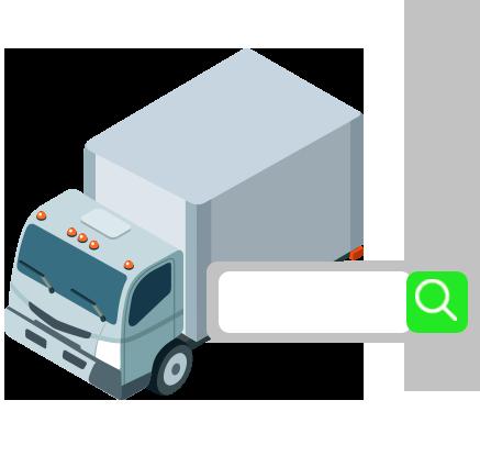 Placa de caminhão dok despachante, ilutsração de um caminhão