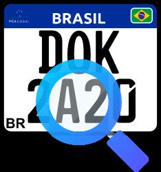 Consultar multa pela placa de moto dok despachante, ilustração de uma placa e lupa