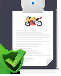 Ilustração de documento de seguro de moto