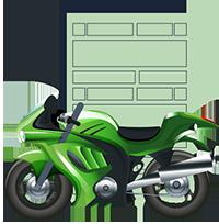 Consultar placa de moto dok despachante, ilustração de uma moto junto a um documento