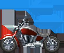 Consultar placa de moto dok despachante, ilustração de uma moto junto a setas