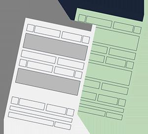 Ilustração de dois documentos