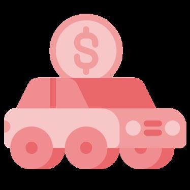 desbloqueio sinistro dok despachante, ilustracao carro com moeda em cima