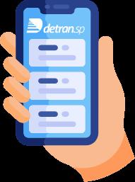 Ilustração do aplicativo do detran