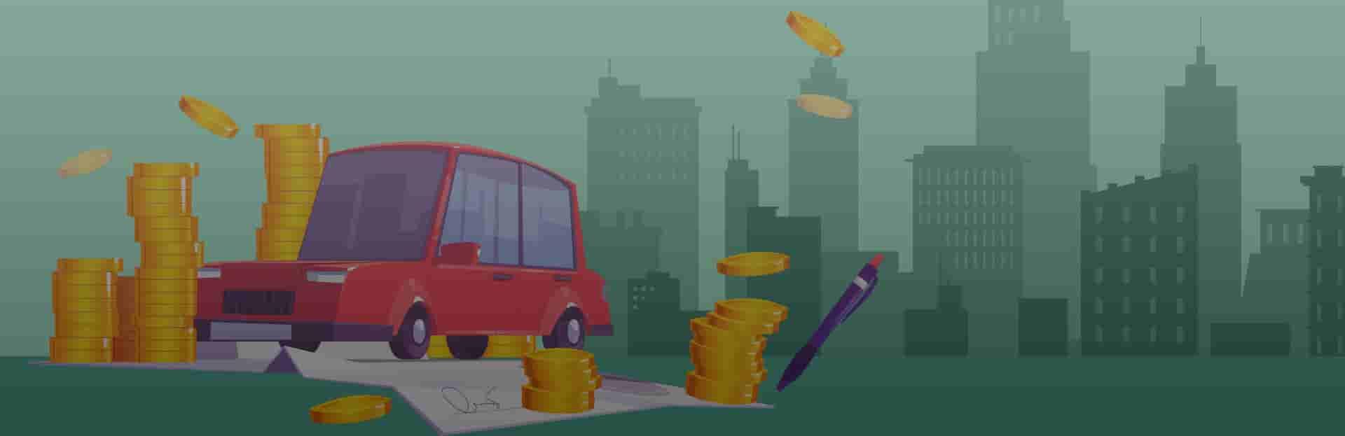 Licenciamento final 3, Ilustração de carro e placa