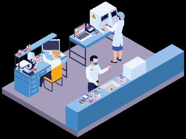 exame toxicologico dok despachante - Ilustração Laboratório