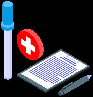 exame toxicologico dok despachante - Ilustração resultado exame