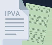 Ilustração de documento com IPVA
