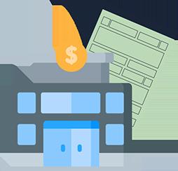 Ilustração de documento com uma instituição de pagamento
