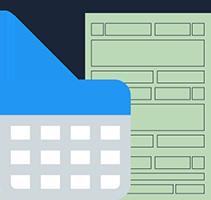 Ilustração de documento com tabela