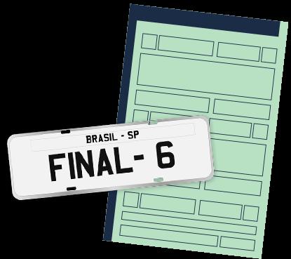 licenciamento final 6 dok despachante, ilustração de um documento e uma carteira