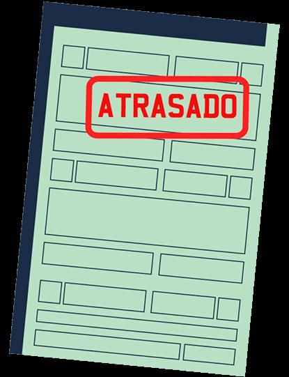 licenciamento final 7 dok despachante, ilustração de uma multa com um documento
