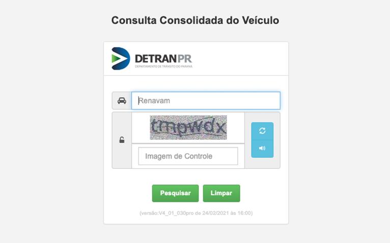 licenciamento pr DOK Despachante, illustração da consulta consolidada do veiculo