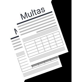 Ilustração documentos escrito multas