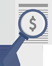 Ilustração de uma consulta em multas