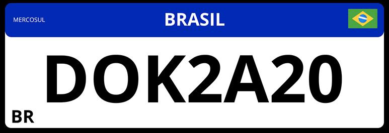 Ilustração de uma placa DOK 2021