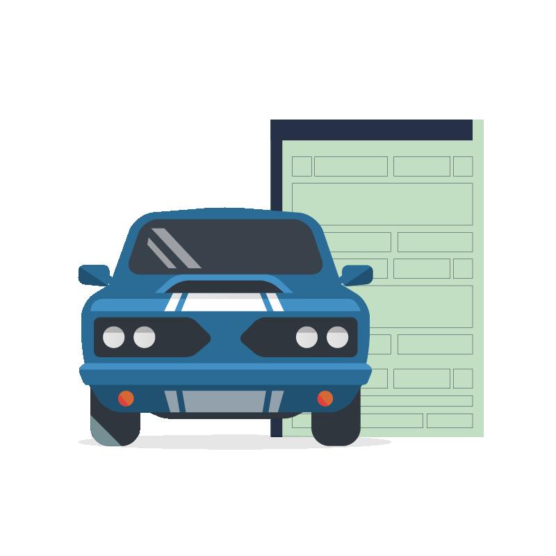Imagem mostrando um documento de veículo