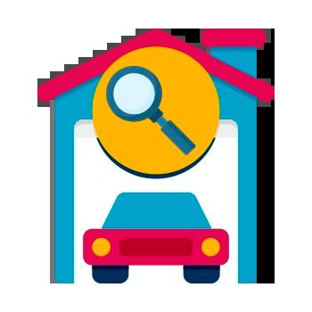 vistoria veicular DOK Despachante, ilustração de uma casa