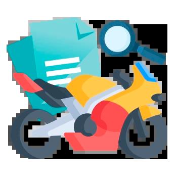 vistoria veicular DOK Despachante, ilustração de uma moto