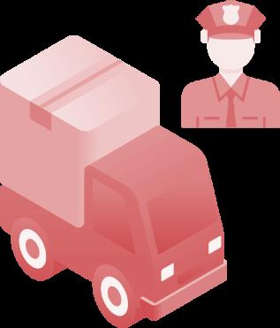 Antt DOK Despachante, ilustração de um caminhão e um guarda