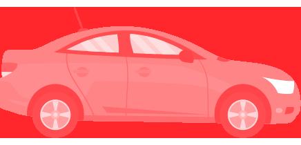 Carros rebaixados dok despachante, ilustração de um carro com gravame