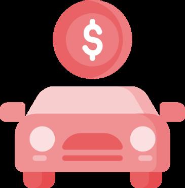 Antt DOK Despachante, ilustração de um carro com uma moeda