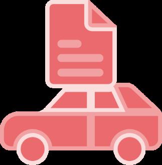 Antt DOK Despachante, ilustração de carro com um documento