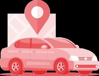 Antt DOK Despachante, ilustração de um carro com localização