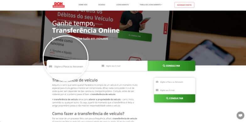 janela do navegador mostrando a pagina inicial do site