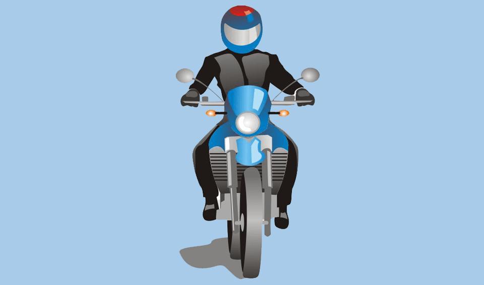Motociclista: use o capacete corretamente