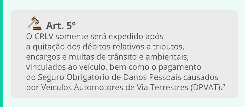 Artigo 5 do código de trânsito brasileiro