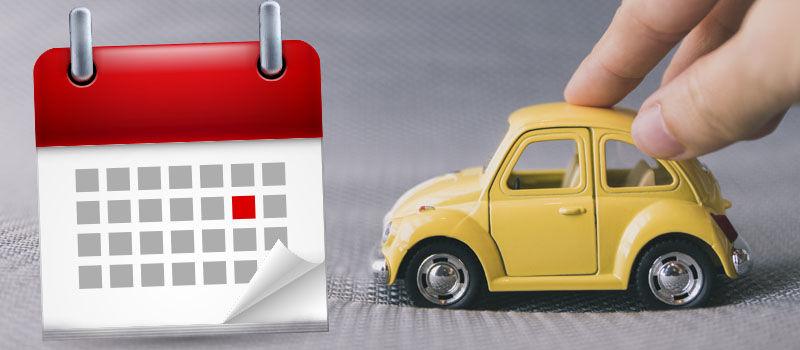 Calendário de licenciamento do veículo