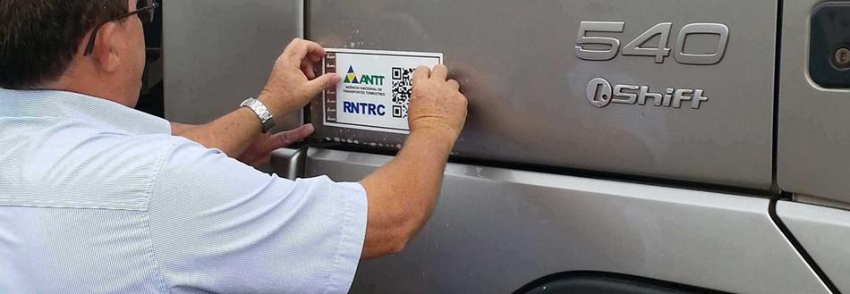 Cadastro ANTT adesivos identificação