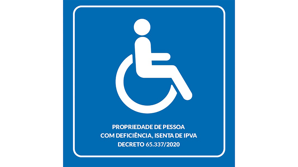 isenção de ipva pcd sp Dok Despachante adesivo