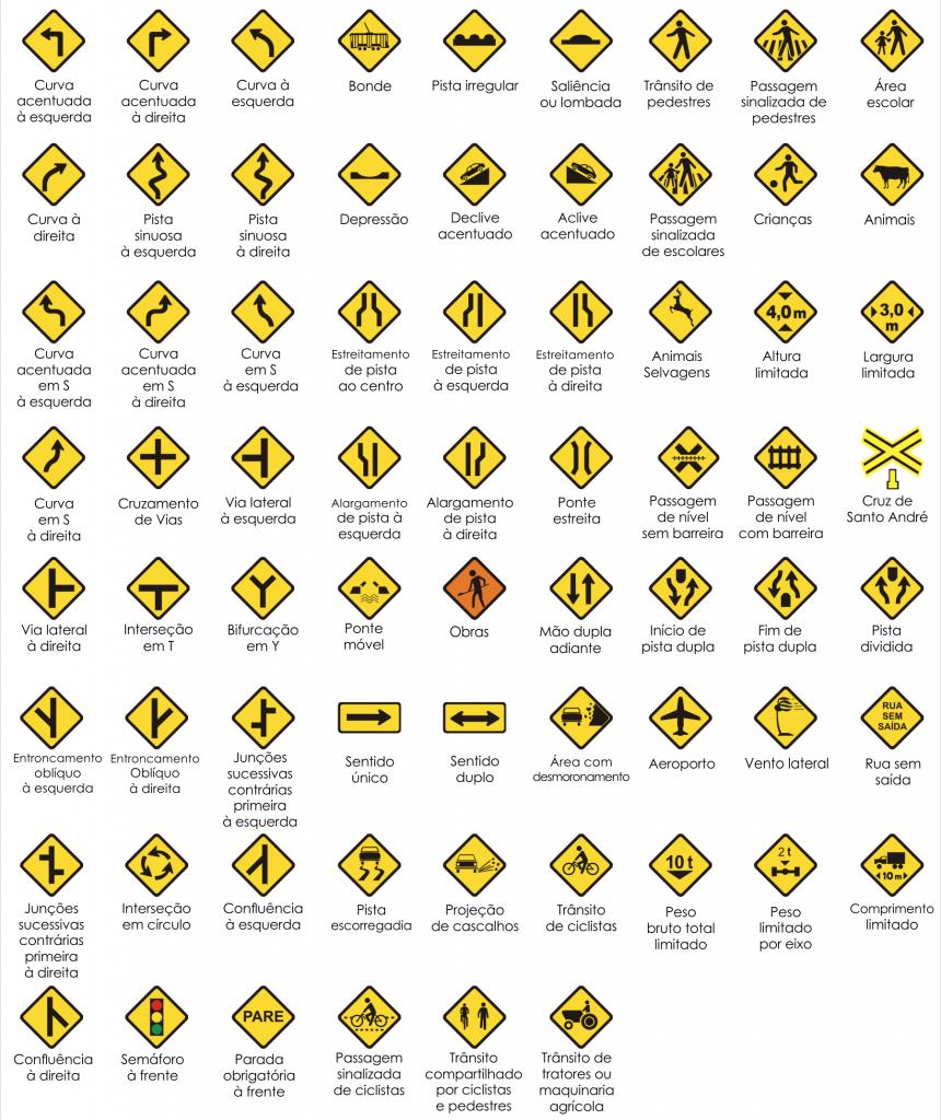 sinais de trânsito dok despachante advertência