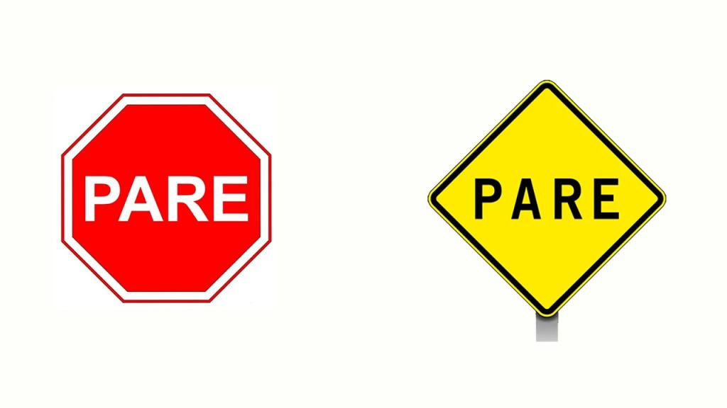 sinais de trânsito dok despachante placa pare