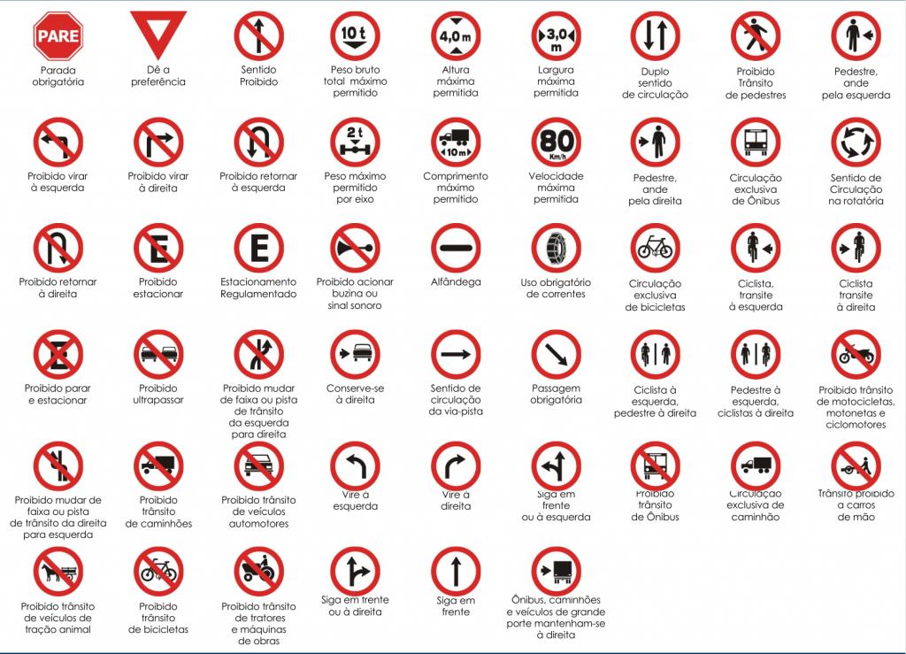 sinais de trânsito dok despachante regulamentação